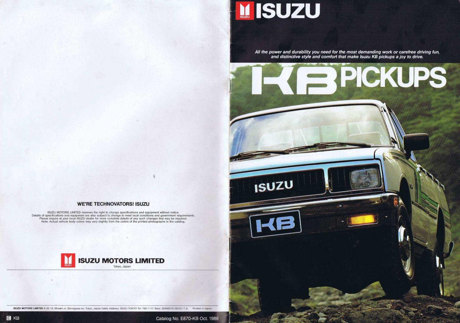 1987 Isuzu KBD Page 02.JPG